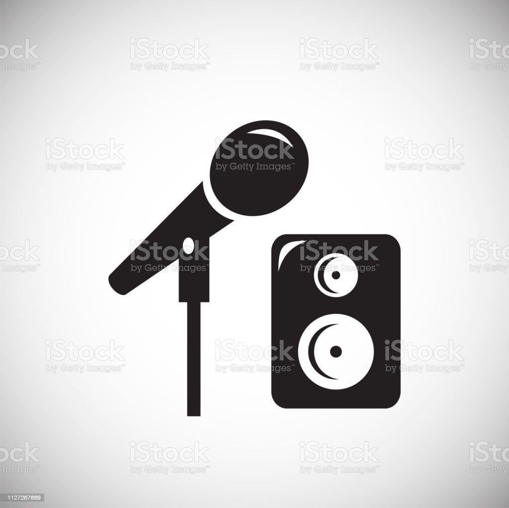 Birthday Party Music Icon On White Background For Graphic