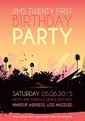 Birthday party poster invitation