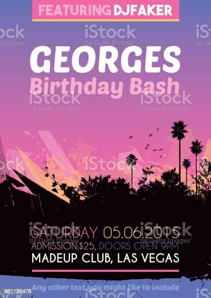 Birthday party poster invitation vector id661138478?b=1&k=6&m=661138478&s=612x612&h=cewioempwegbkzk2w5iflce6mayzwp2xd8vtomjkxyw=