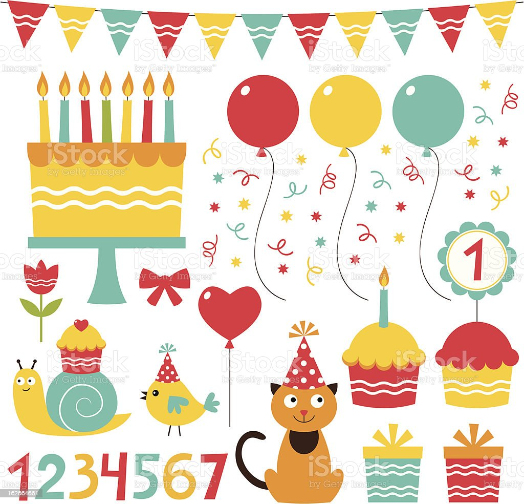 Birthday party set royalty-free birthday party set stock vector art & more images of balloon