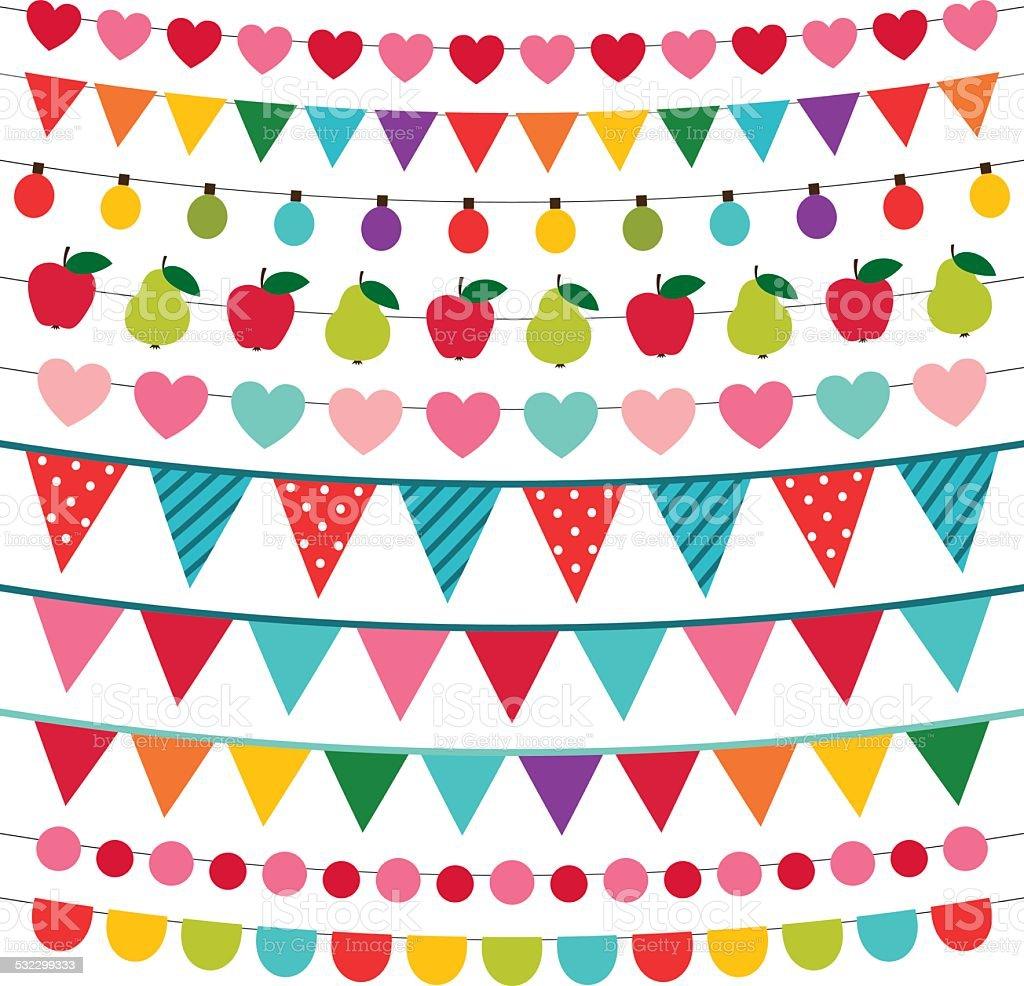 Birthday party vector decoration vector art illustration