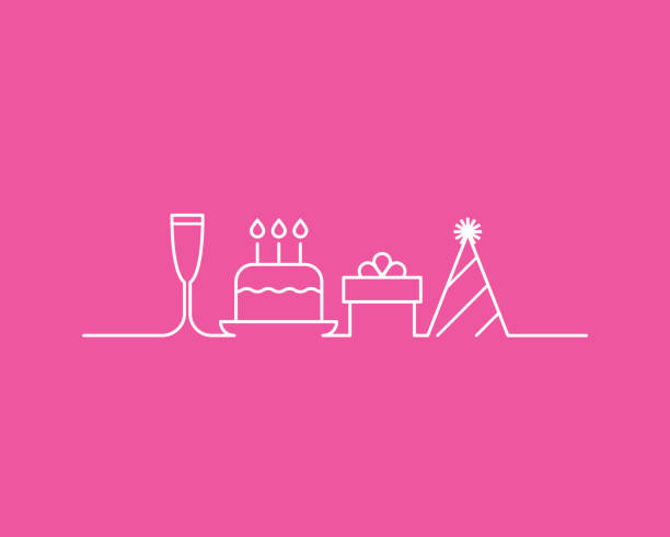 ilustraciones, imágenes clip art, dibujos animados e iconos de stock de fiesta de cumpleaños - cumpleaños