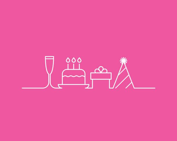 ilustrações de stock, clip art, desenhos animados e ícones de birthday party - birthday