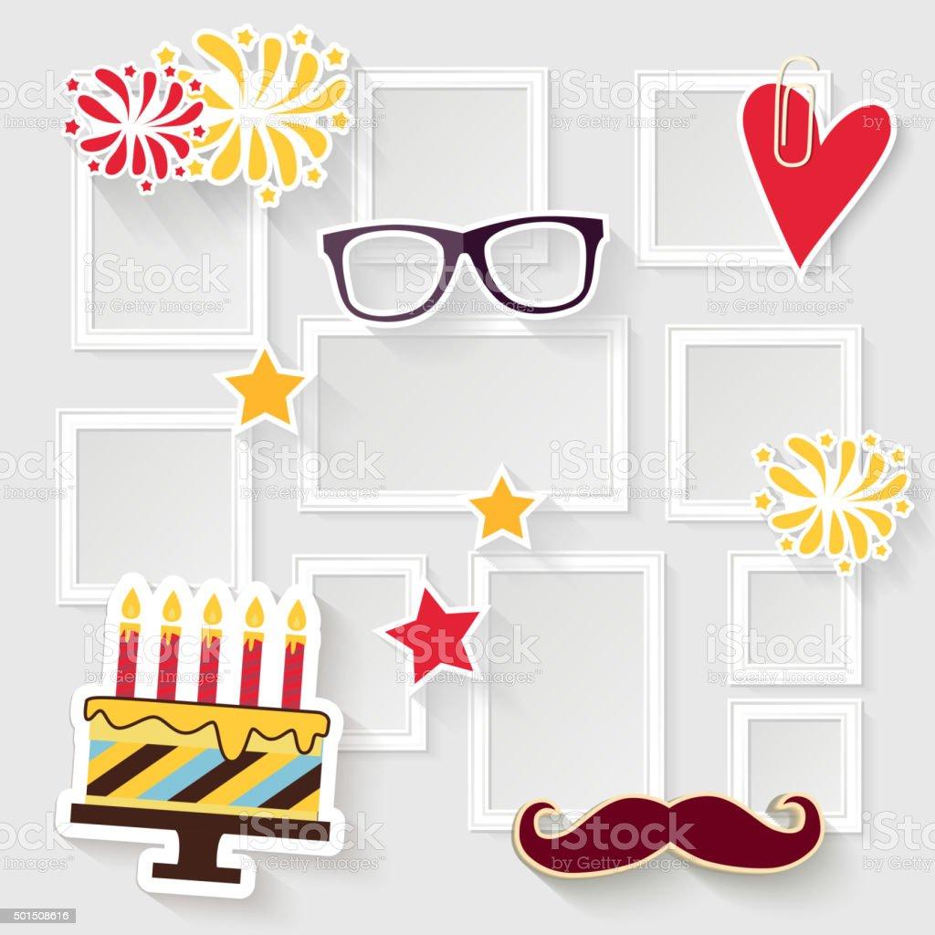 Cornice di compleanno - illustrazione arte vettoriale