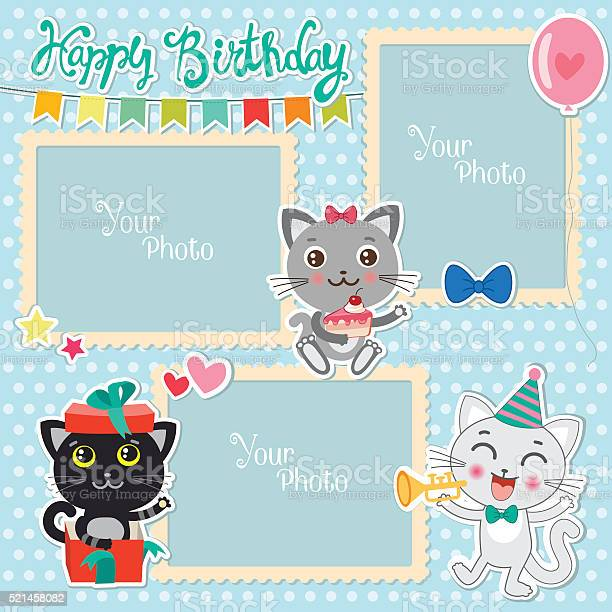 Birthday photo frames with cute cats decorative template for baby vector id521458082?b=1&k=6&m=521458082&s=612x612&h=v1kmyikv7wojg3ayaqkdjdbr5huxfft hmet8294tda=