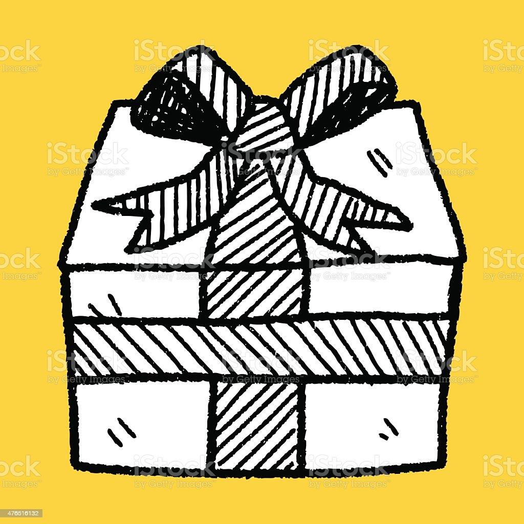 Geburtstag Prasentiert Doodle Zeichnung Stock Vektor Art Und Mehr