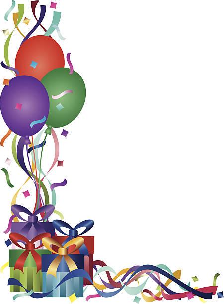 誕生日は、リボン、ベクトルイラスト、コンフェティ - 休日/季節ごとのイベント点のイラスト素材/クリップアート素材/マンガ素材/アイコン素材