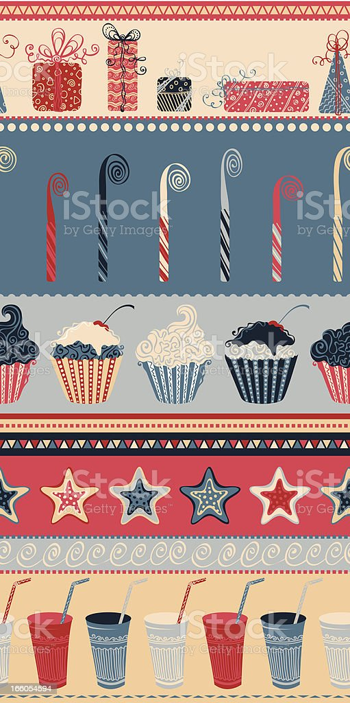 Birthday seamless pattern royalty-free stock vector art