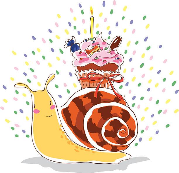 Limace d'anniversaire - Illustration vectorielle