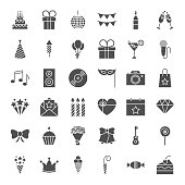 Birthday Solid Web Icons