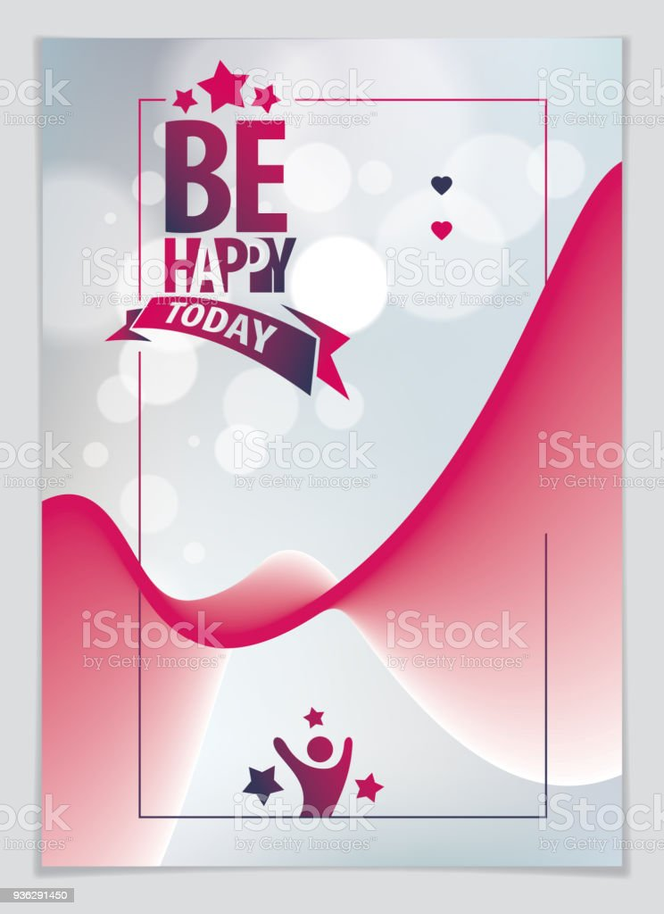 Birthday Vector Design For Greeting Card. Includes Lettering Composition  And Balloons Combined With Wavy Fluid  Greeting Card Format