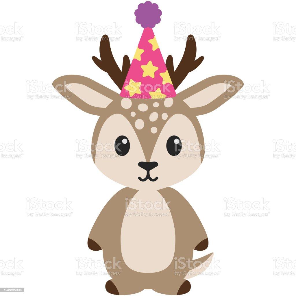 Birthday Woodland Deer Illustration Stock Vector Art More Images