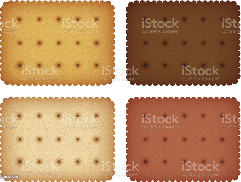 Biscuit cookie cracker collection vector art illustration