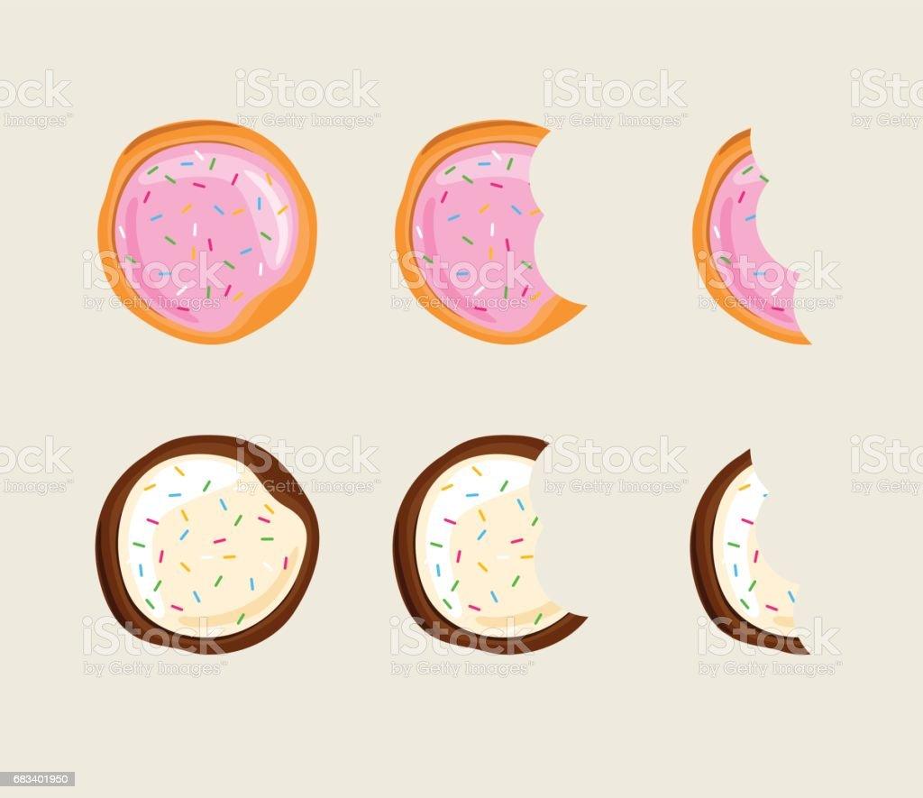 Biscuit cracker vector art illustration
