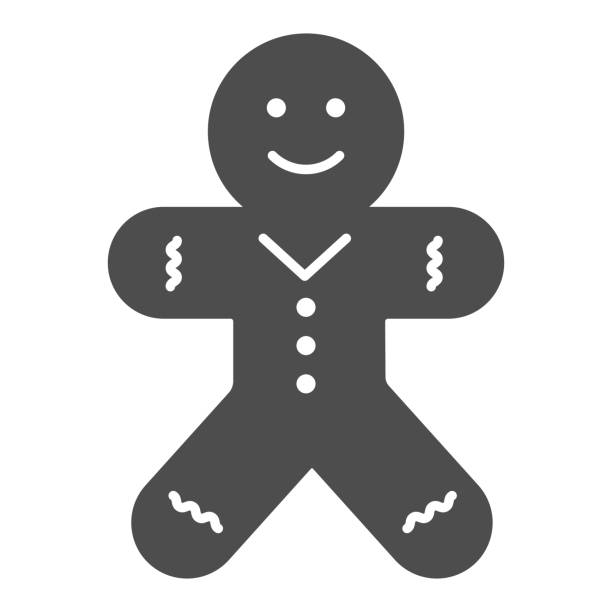 Biscuit Man line and solid icon. Gingerbread Man outline style pictogram on white background. Christmas Cookie for mobile concept and web design. Vector graphics. Biscuit Man line and solid icon. Gingerbread Man outline style pictogram on white background. Christmas Cookie for mobile concept and web design. Vector graphics decorating a cake stock illustrations