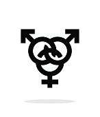 Bisexual icon on white background