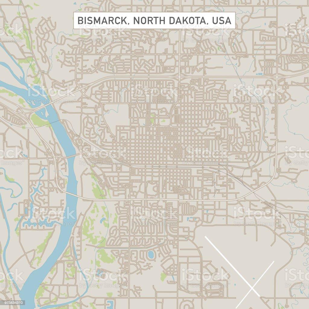Bismarck North Dakota Us City Street Map Stock Illustration ...