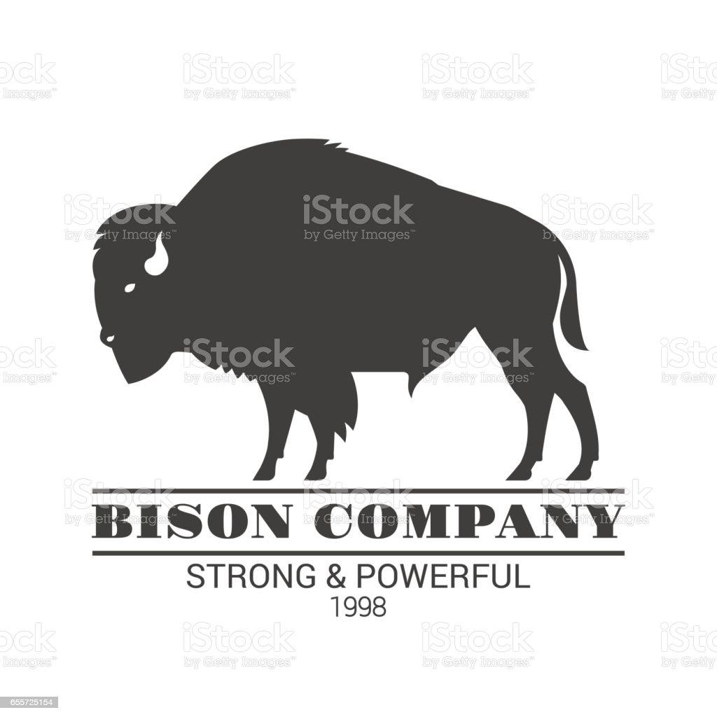 'Bison company' logo template. vector art illustration