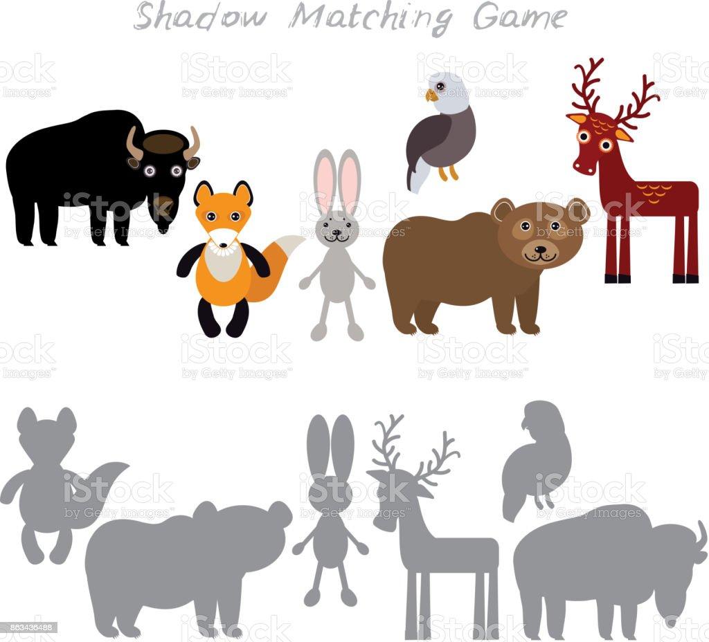 Bizon Yabani Tavşan Tavşan Kartal Ayı Beyaz Arka Planda Okul öncesi