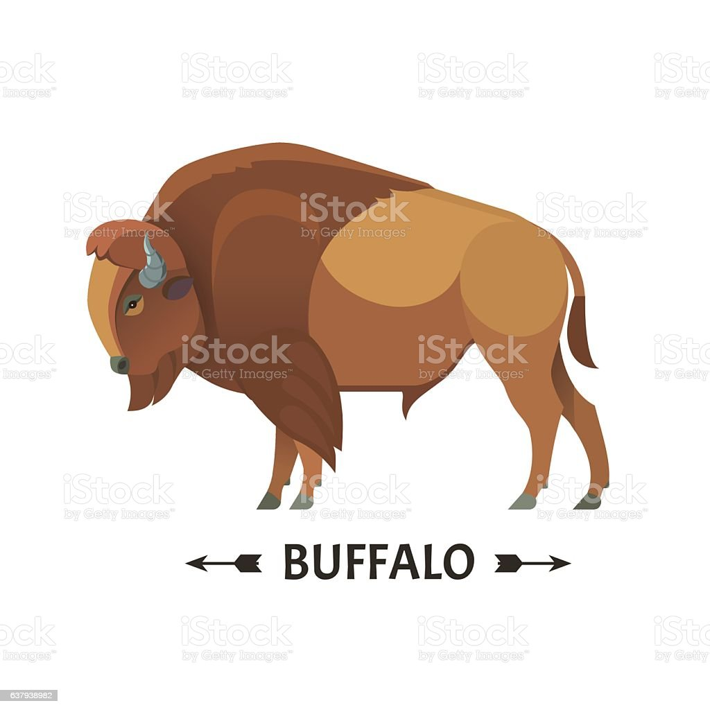 Bison icon. vector art illustration