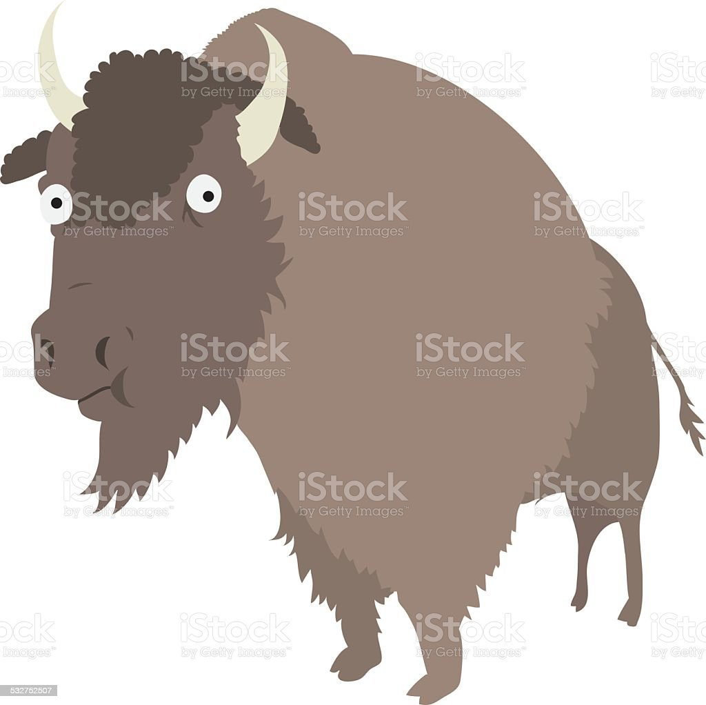 Bison vector art illustration