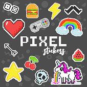 8 bit retro stickers