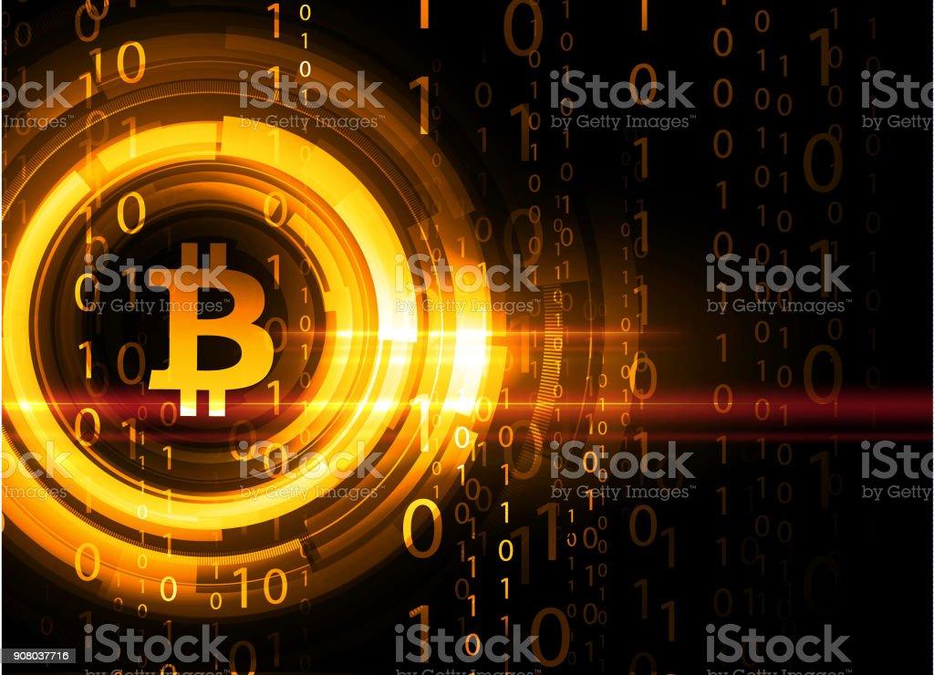 Bitcoin background vector art illustration