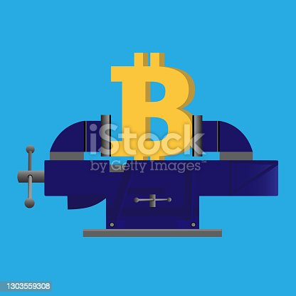istock Bitcoin being squeezed 1303559308