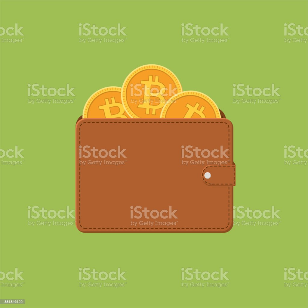 Bitcoin Blockchain Cryptocurrency Concept - Flat Design vector art illustration