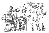 Bitcoin Bubble Machine Concept Drawing