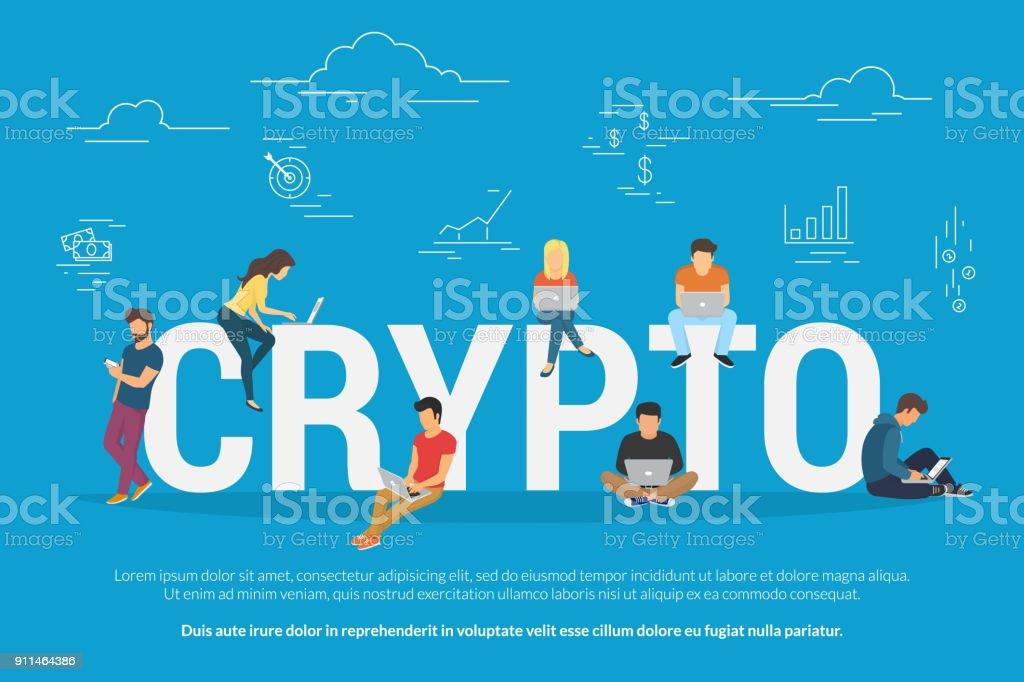 Bitcoin concept illustration vector art illustration