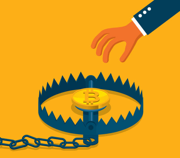 Bitcoin concept - Trap vector art illustration