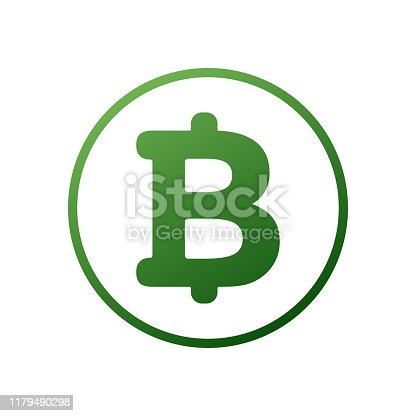 Bitcoin cryptocurrency round symbol vector icon for apps and websites. Bitcoin money icon illustration on light background. Money bissiness finance concept. Eps10