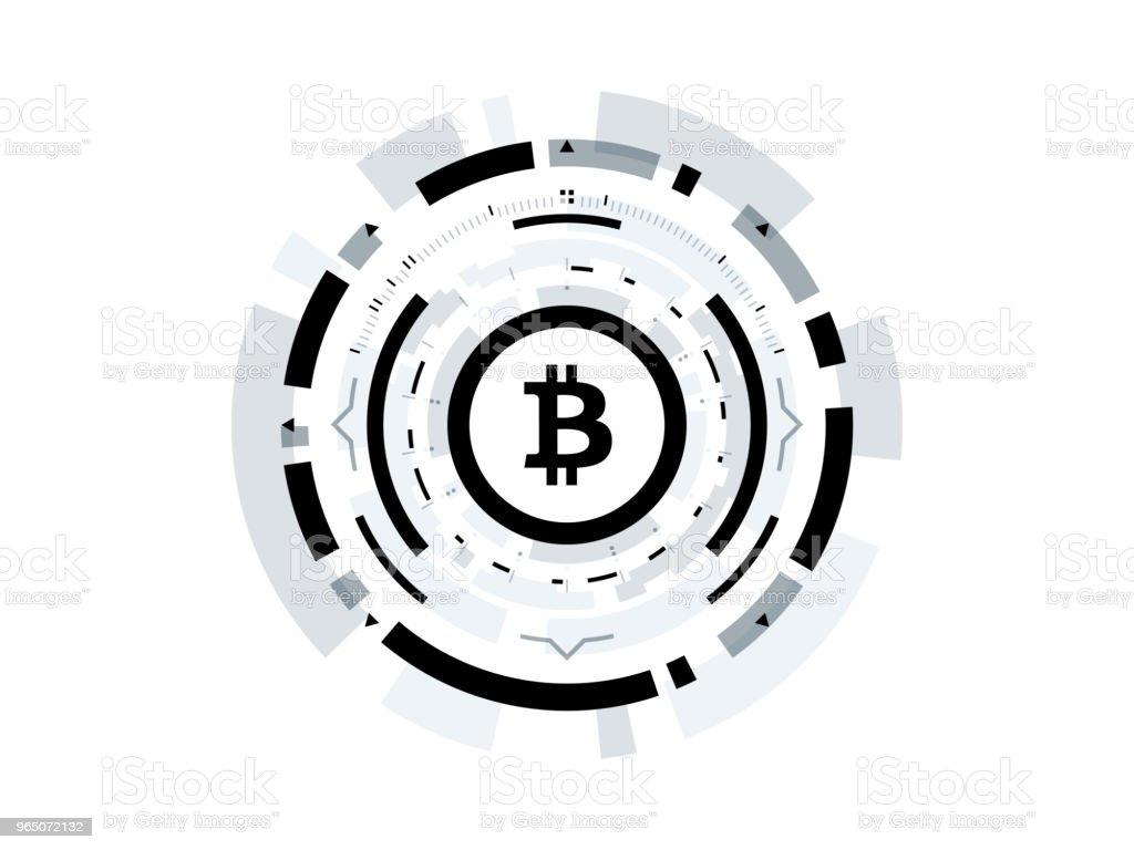Bitcoin cryptocurrency vector illustration bitcoin cryptocurrency vector illustration - stockowe grafiki wektorowe i więcej obrazów abstrakcja royalty-free