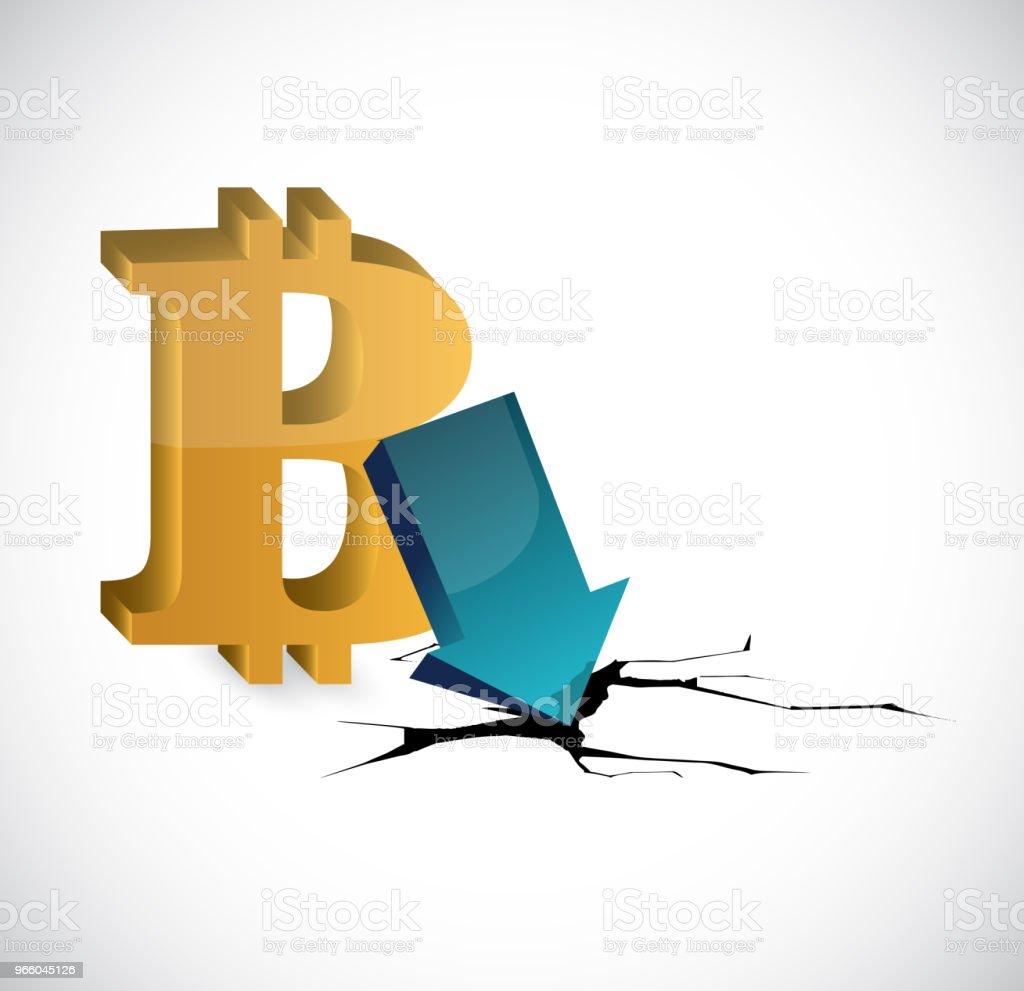 bitcoin depressie illustratie. Vectorillustratie. - Royalty-free Analyseren vectorkunst