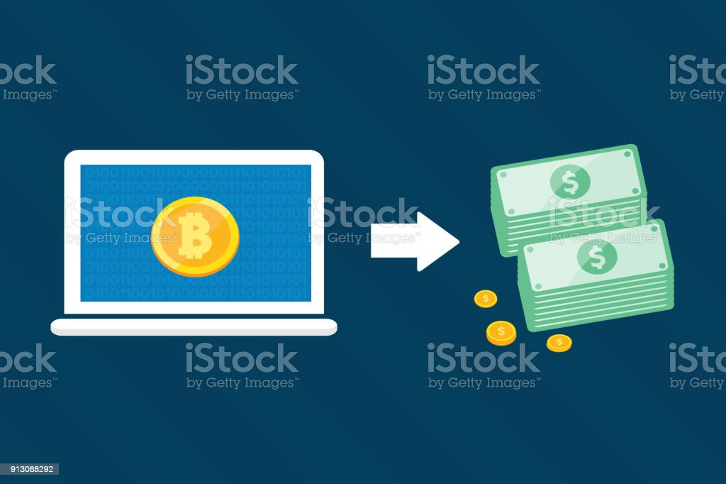 Bitcoin Exchange For Dollars Vector Design For Technology Digital