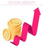 istock A Bitcoin Growth concept vector Infographic. 1306838413