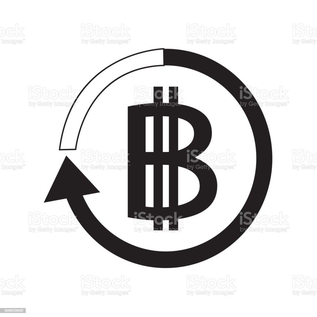 Bitcoin icon design stock vector art more images of bank bank blockchain market thailand banking biocorpaavc Gallery