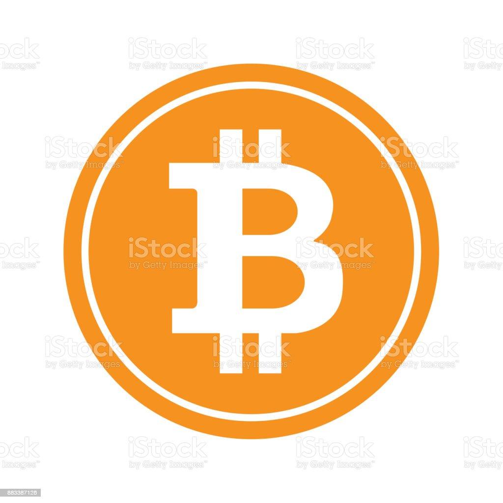 Bitcoin icon set vector art illustration