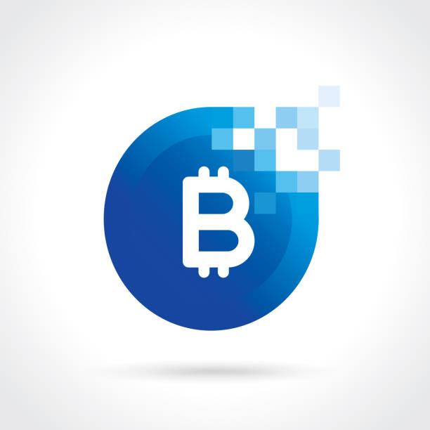 stockillustraties, clipart, cartoons en iconen met bitcoin icoon - bitcoin