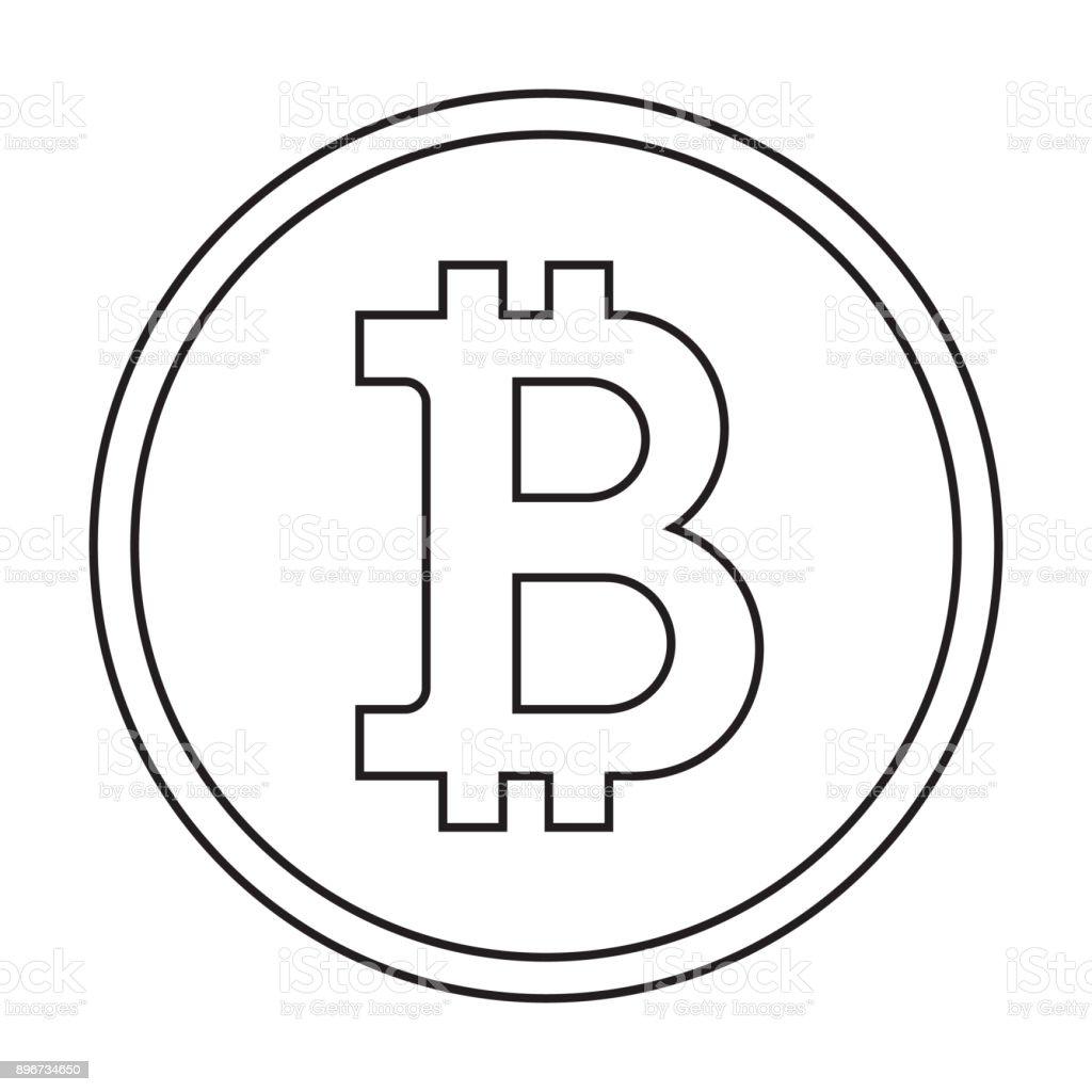 Bitcoinsymbol Mit Umrissstil Logo Mit Trendigen Stil Ecommerce ...