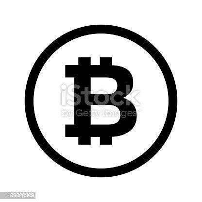 bitcoin internet money icon vector eps 10