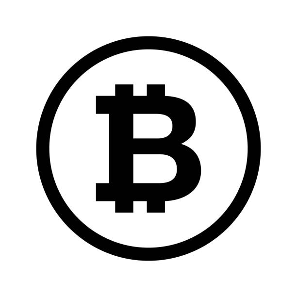 stockillustraties, clipart, cartoons en iconen met bitcoin internet geld icoon vector - bitcoin