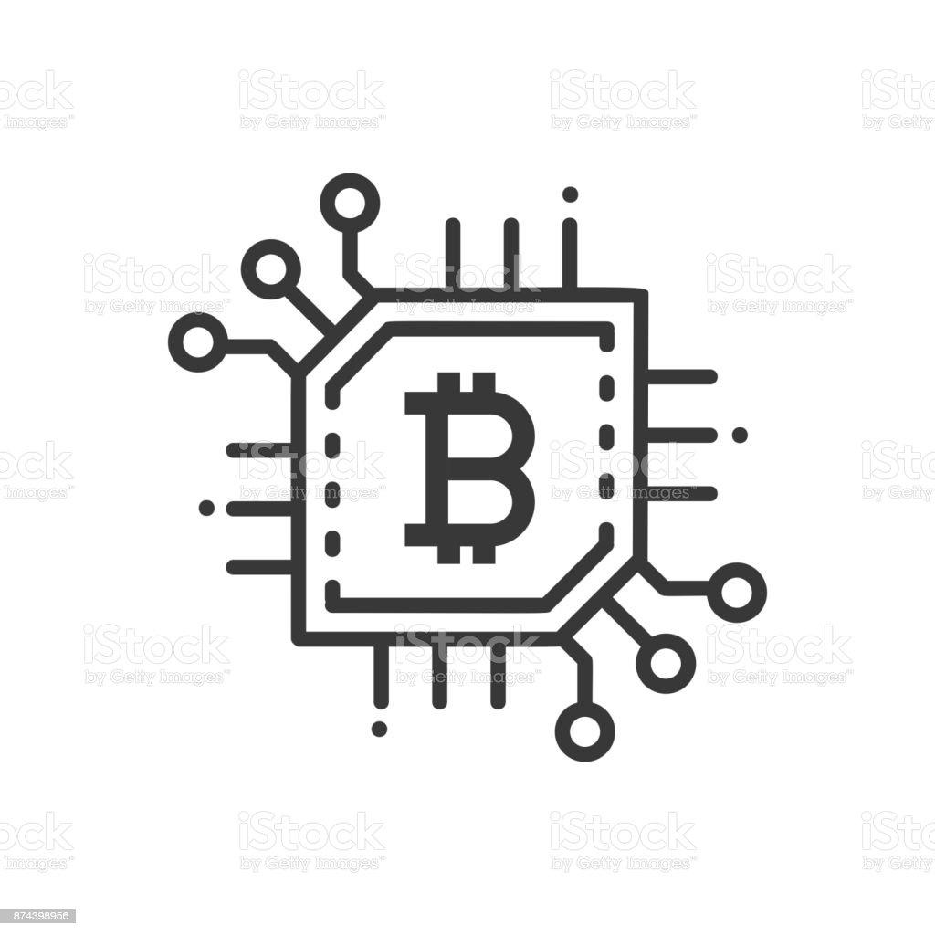 Bitcoin - icône isolé ligne design - Illustration vectorielle