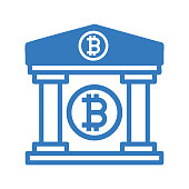 Bitcoin Property Icon. Beautiful, meticulously designed icon. Well organized and editable Vector for any uses.