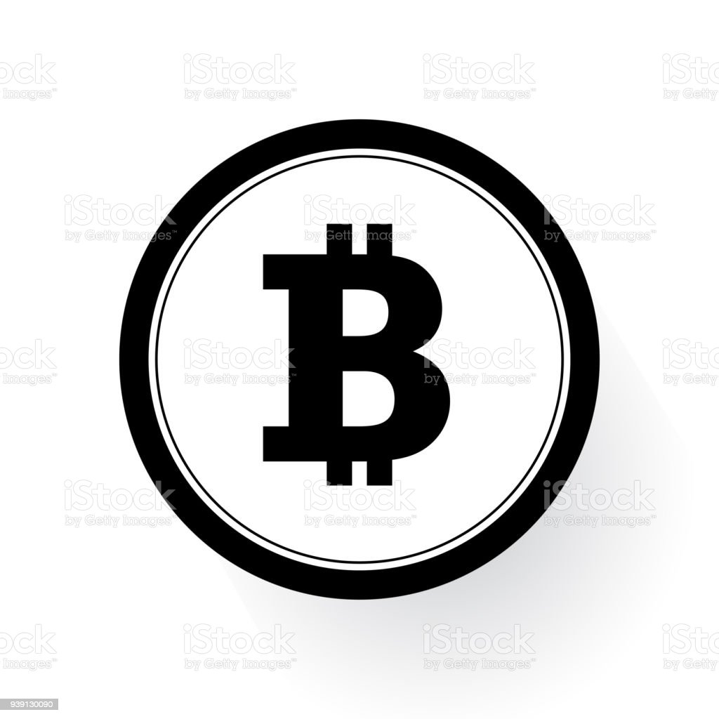 Bitcoin Sign Icon Flat Design Network Money Symbol For Mobile User