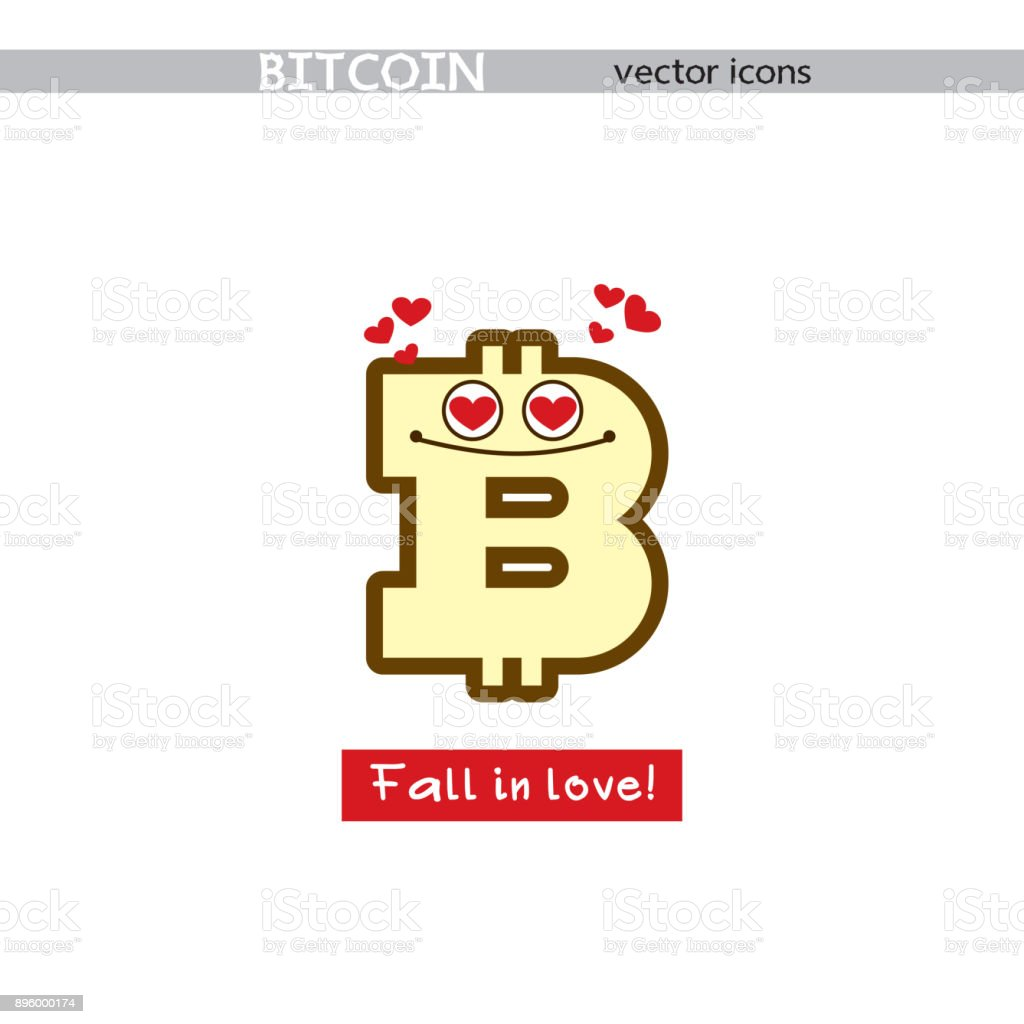 Bitcoin sign with smile concept icon with a cheerful character cute bitcoin sign with smile concept icon with a cheerful character cute emoticon biocorpaavc Images