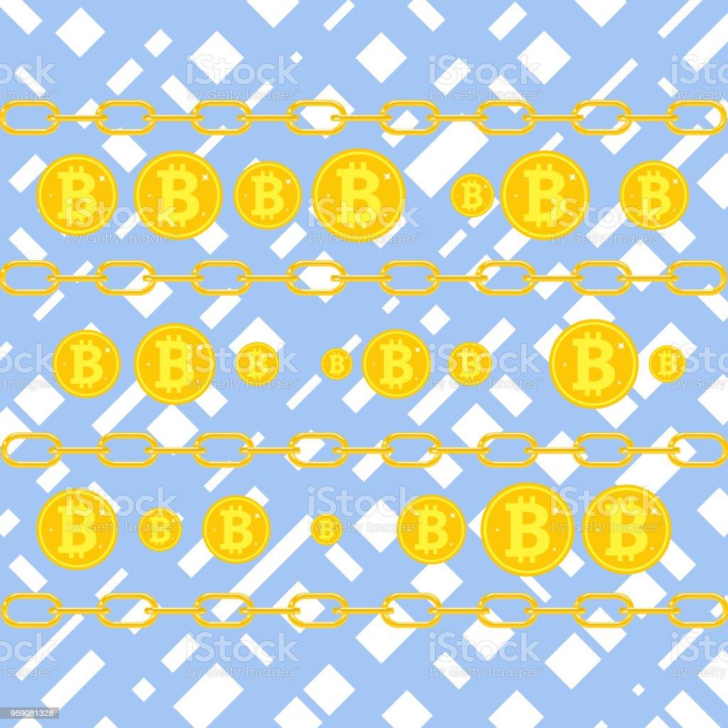 Bitcoin Das Konzept Der Bitcoins Verdienen Bitcoin Münzen Auf Blauem