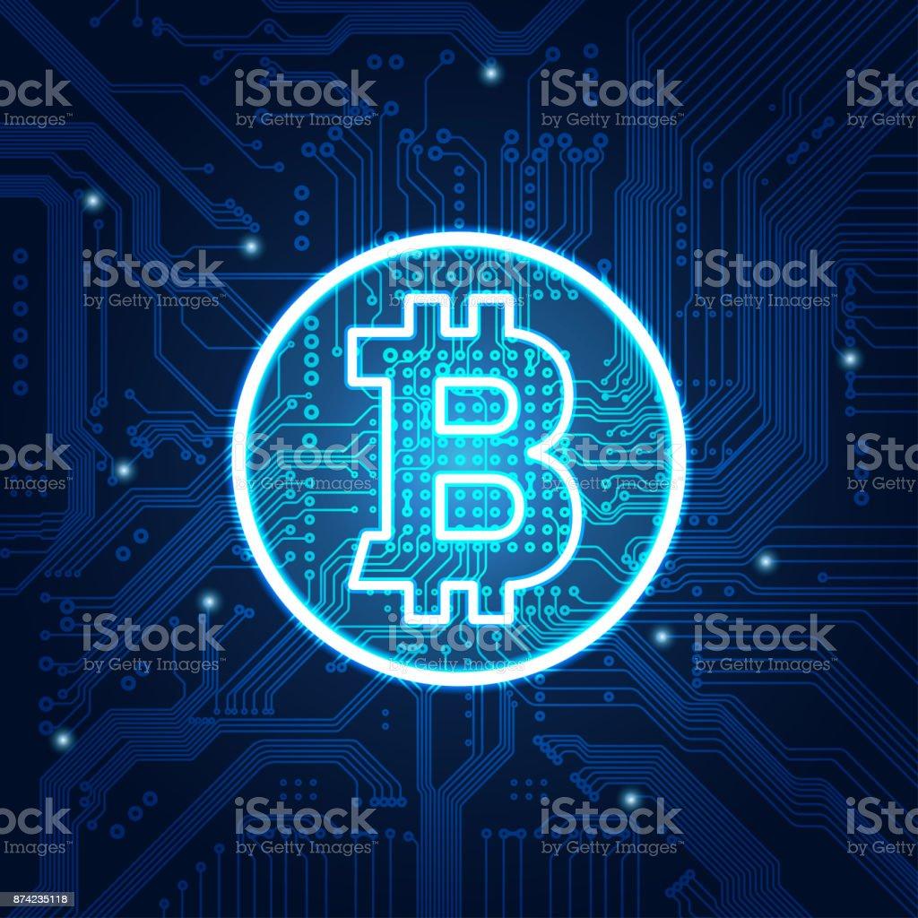 bitcoin vector art illustration