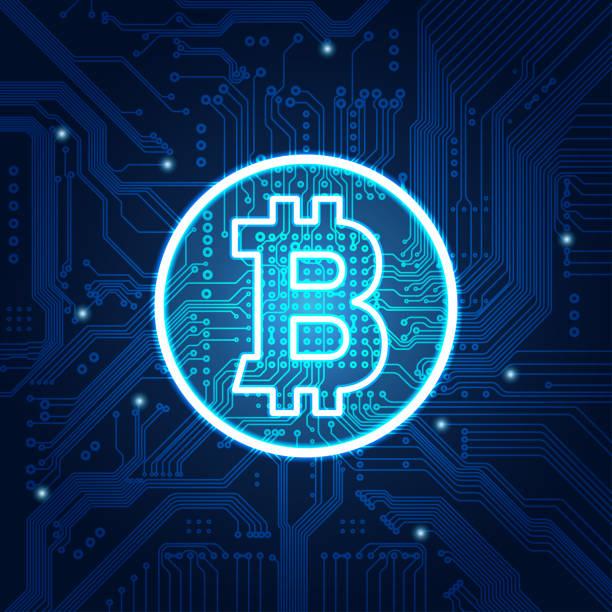 stockillustraties, clipart, cartoons en iconen met bitcoin - bitcoin